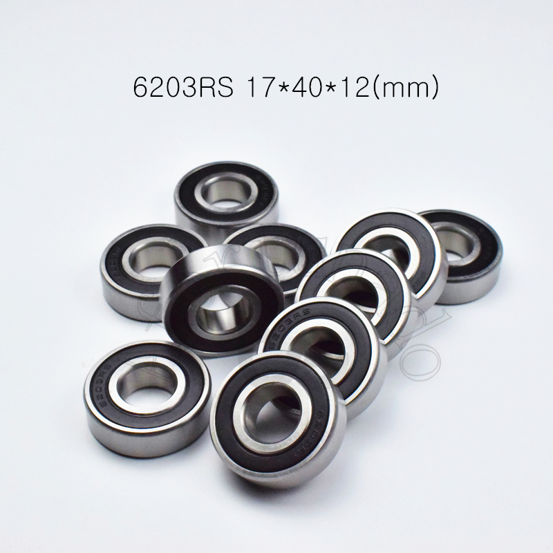 6203RS 17*40*12(mm) 1Piece bearings ABEC-5 rubber sealing bearings 6203 6203RS chrome steel deep groove bearing image