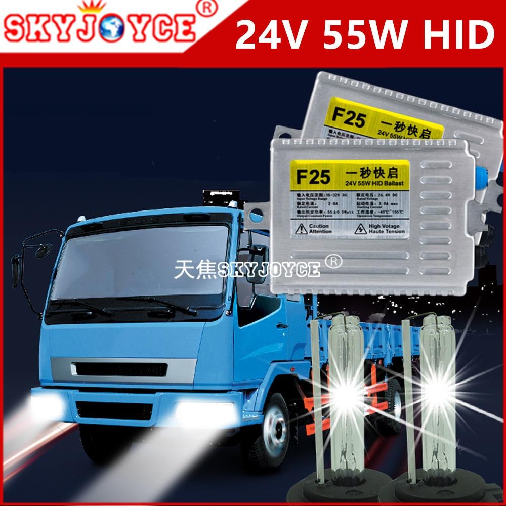 10 sets DHL Freeshipping hid kit 55W  truck 24V hid H7 6000K 4300K  headlight hid 24V truck use xenon hid H1 H3 5000K