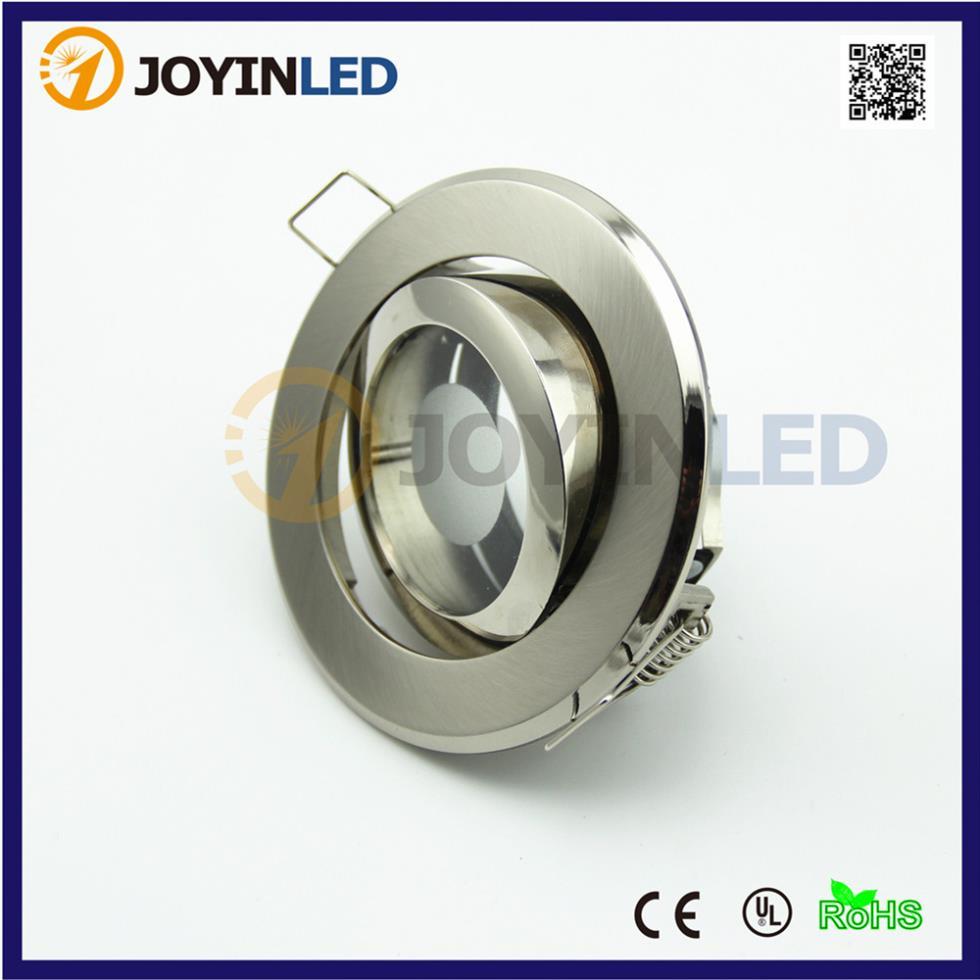 vysoce kvalitní zinková slitina gu10 mr16 zásuvka zapuštěná LED bodová svítidla rám kruhová saténová montáž