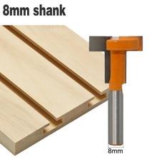"""1pc 8mm Shank """"T"""" typ łączenie i dłutowanie frez t track dłutowanie i t slot frezarka do drewna Bit frezy do drewna"""