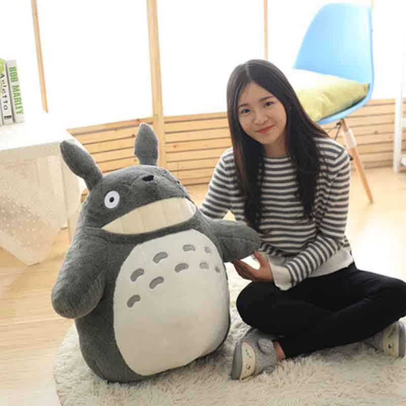 27-55cm Cute Totoro doll Large size pillow Totoro plush toy doll wedding press doll children birthday girl Kids Toys 1pcs 85cm creativity dragoncat dolls plush toys funny expression totoro large doll lovely doll birthday gift girl s favorite