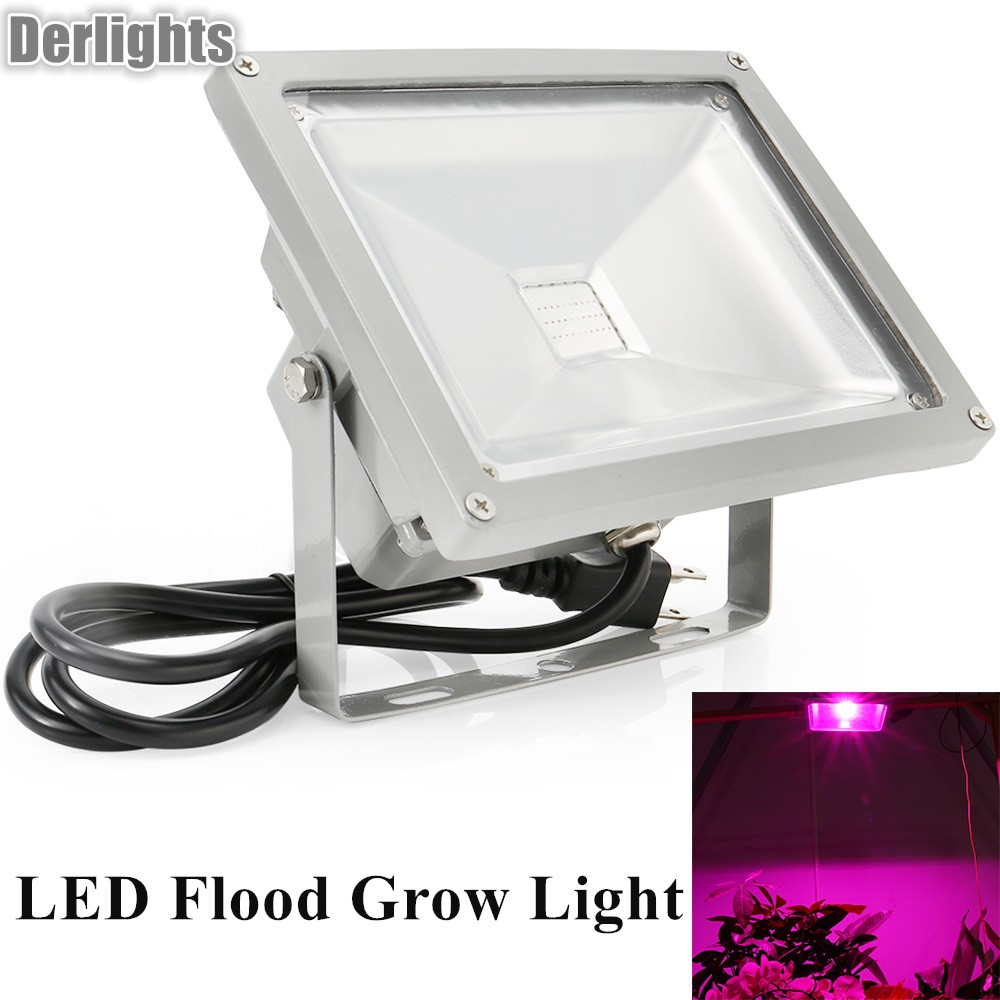 50W LED Flood Plant Grow Light Lamp Growing Lights Bulbs Hydroponics System for Plants Flower Seeds Vegetable Indoor Greenhouse