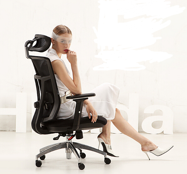 Ergonomic Chair For Home Office French Linen Gaming Lounge Rotation In