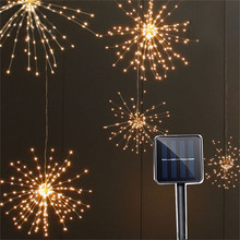 Solar Powered Hanging Starburst String Light 100leds/150Leds DIY Copper Fairy Garland Christmas Wedding Party Twinkle Lights