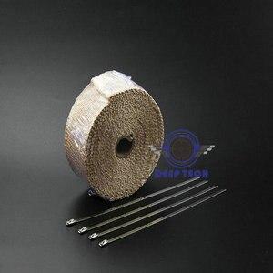Image 5 - Бежевая выхлопная труба глушителя термостойкая выхлопная пленка 10 м x 2 дюйма с кабельные стяжки