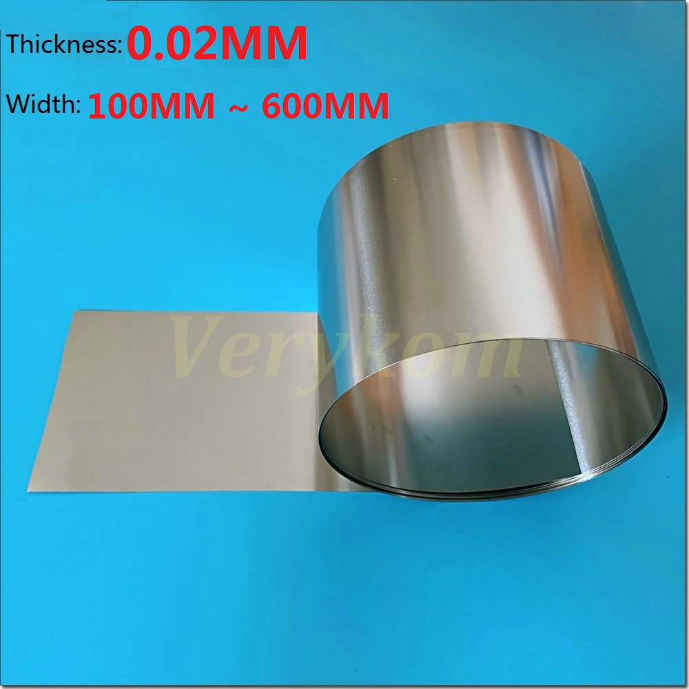1pc Stainless Steel Fine Plate Sheet Foil 0.05mm x 100mm x 1m