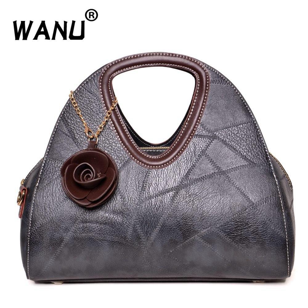 WANU Women s Handbag Women Leather Handbags Bags For Women Bags Designer  Luxury Handbags Crocodile Lady Hand e922758bcfbbe