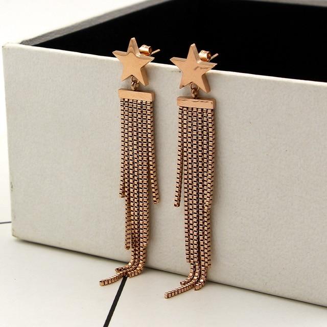 Купить модные ювелирные изделия серьги из титановой стали гвоздики