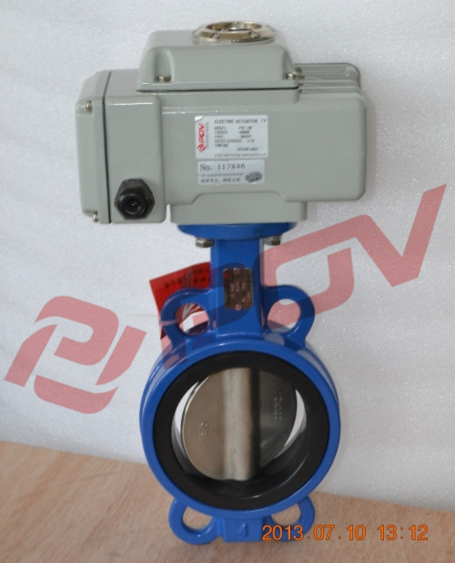 d971x wafer type electric butterfly valve