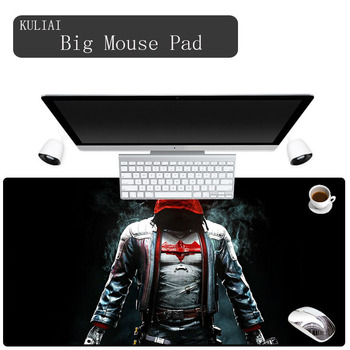 KULIAI New Batman Gamer Keyboard Mouse Pad Rubber Large Size Non-slip Soft Player Games Gaming Laptop Lol Mouse mat for Gta Gtav