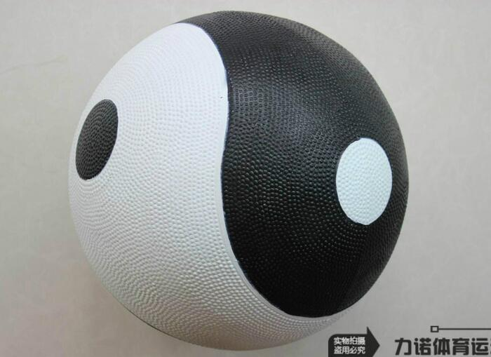 3kg/pcs Diameter 26cm Black & White Color Nature Rubber Tai Chi ball Exercise and fitness balls with Carry bag