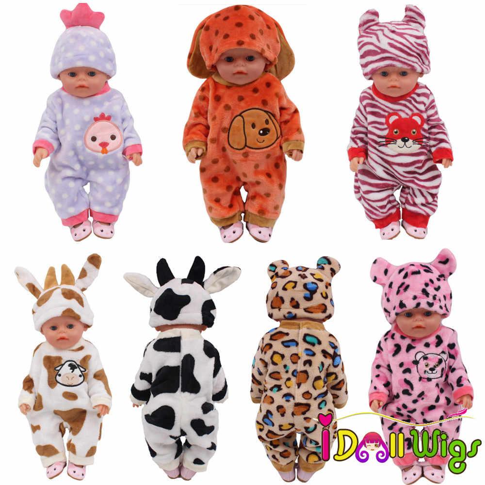 חמוד בעלי החיים בגדי עבור 18 אינץ אמריקאי בובת בגדי 43 cm בגדי בובת קריקטורה אמריקאי בובת בגדים