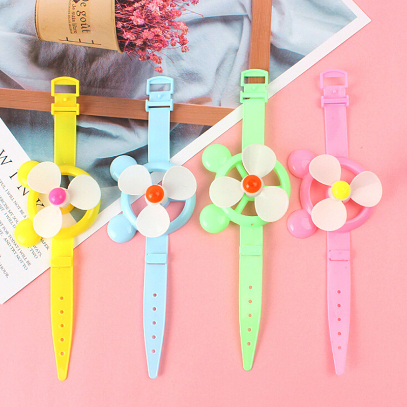 3Pcs Novelty Windmill Watch Toy Watch Wind Spinner Kids Toy Party Supplies Gifts