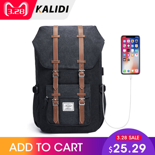 8b47ac01f KALIDI Laptop Bag Backpack 15.6 - 17.3 Inch For Men Women Travel School Bag  For Macbook Air Pro 15 17 Fashion Notebook Bag USB