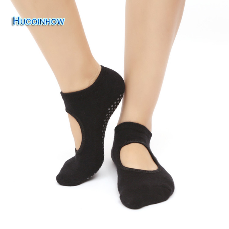 HUCOINHOW 1Pair Fashional Yoga Socks Adult Anti Slip Home Sox Knitted Cotton Terry Toe Sock Sports Socks In Stocks Item ...