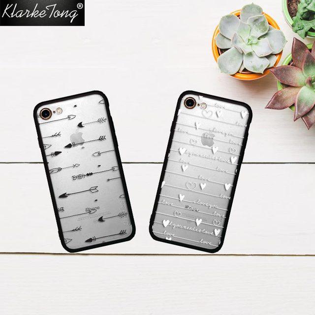 Klarketong Funny Arrow White Love Letter Words Phone Case For Iphone S Plus