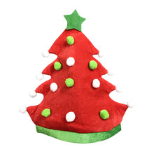 ead5474e806ea 2019 New Christmas Hat Creative Ornaments Xmas Cap Decoration Party Dress  Props - Red Christmas Tree Christmas Elf