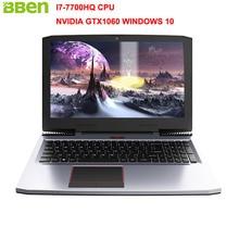 "Bben G16 15.6 ""игровой ноутбук Окна 10 Intel I7-7700HQ Процессор NVIDIA GTX1060 6 г DDR5 оперативной памяти нет SSD HDD клавиатура с подсветкой PC"