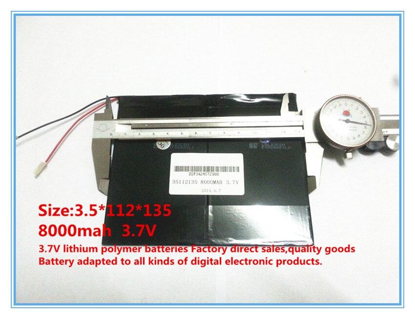 3.7 V, 8000 mAh, polimer lityum iyon / tablet pc için Li-ion pil, - Tablet Aksesuarları - Fotoğraf 4