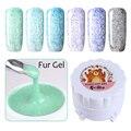 6 Colors/set Soak Off Fur Gel 5g Fur Effect Gel Varnish Manicure Nail Art UV Gel Polish Set 7-12