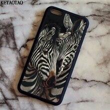Ketaotao 2018 Новый Зебра Телефонные чехлы для iphone 4S 5C 5S 6 6 S 7 8 Plus X для Samsung S5 6 7 8 Примечание Чехол Мягкий ТПУ Резиновая силиконовые
