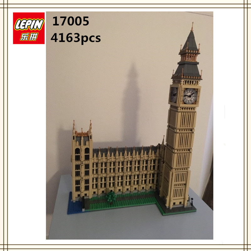 IN STOCK LEPIN 17005 4163Pcs City Street Big Ben Elizabeth Tower Model Building Kit Set Blocks Bricks Children Toy 10253 ynynoo lepin 02043 stucke city series airport terminal modell bausteine set ziegel spielzeug fur kinder geschenk junge spielzeug