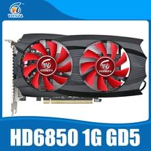 Оригинальная графика карты veineda HD6850 1 ГБ GDDR5 графическая карта HDMI DVI DP порт для Radeon сильнее, чем R7 350, HD6750, GT740