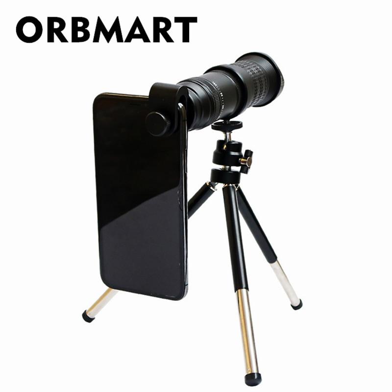 ORBMART 18x 30x 4K HD Fisso Zoom Teleobiettivo Telescopio per Smartphone Del Telefono Mobile Lente di Clip Universale Senza Vignettatura