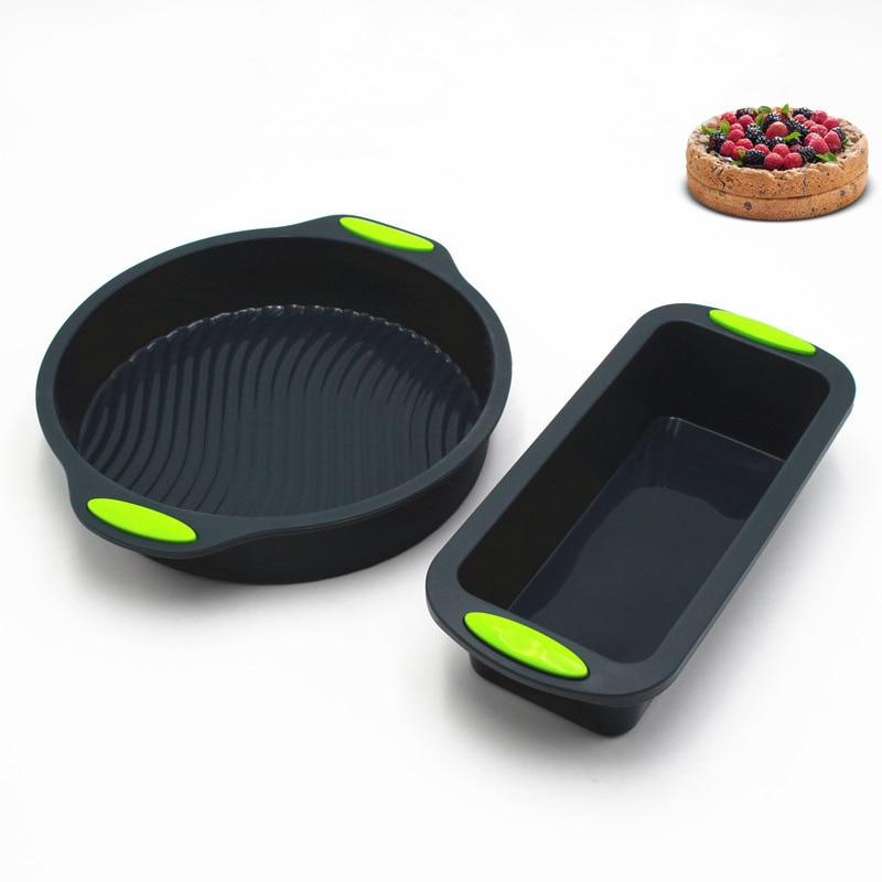 2 teile/satz Silikon Brot Toast Backen Kuchen Form Form Backen Kuchen Pfannen Gerichte für Kuchen Backformen Tablett Dekorieren Kuchen Backen werkzeug