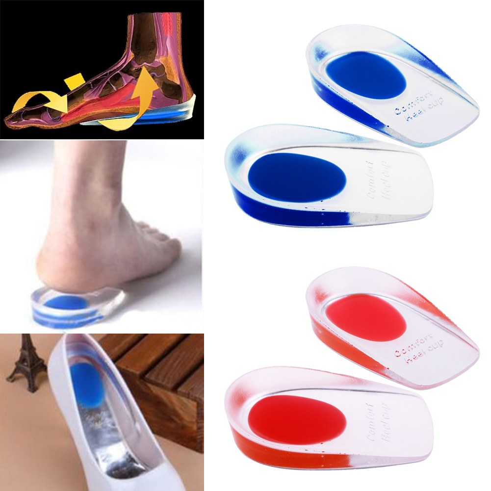 Silicone orthopedic insoles Massag Cushion Foot Care pad for shoe pain relief Heel pillow <font><b>Cup</b></font> For Plantar Fasciitis Orthotics