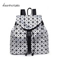 2017 Women's Backpack Bao Bao Geometric Patchwork Diamond Lattice Ladies Backpack For Teenage Girl BaoBao School Bags sac a dos