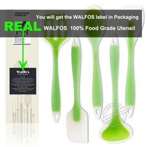 Image 4 - WALFOS Accesorios de utensilios para cocina de silicona de grado alimenticio, juego de utensilios de cocina resistentes al calor, espátula antiadherente, cuchara giratoria de cucharón