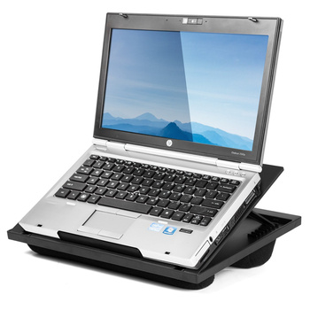multifunction laptop stand with 7 adjustable angles and dual microbead bolster for bed and sofa