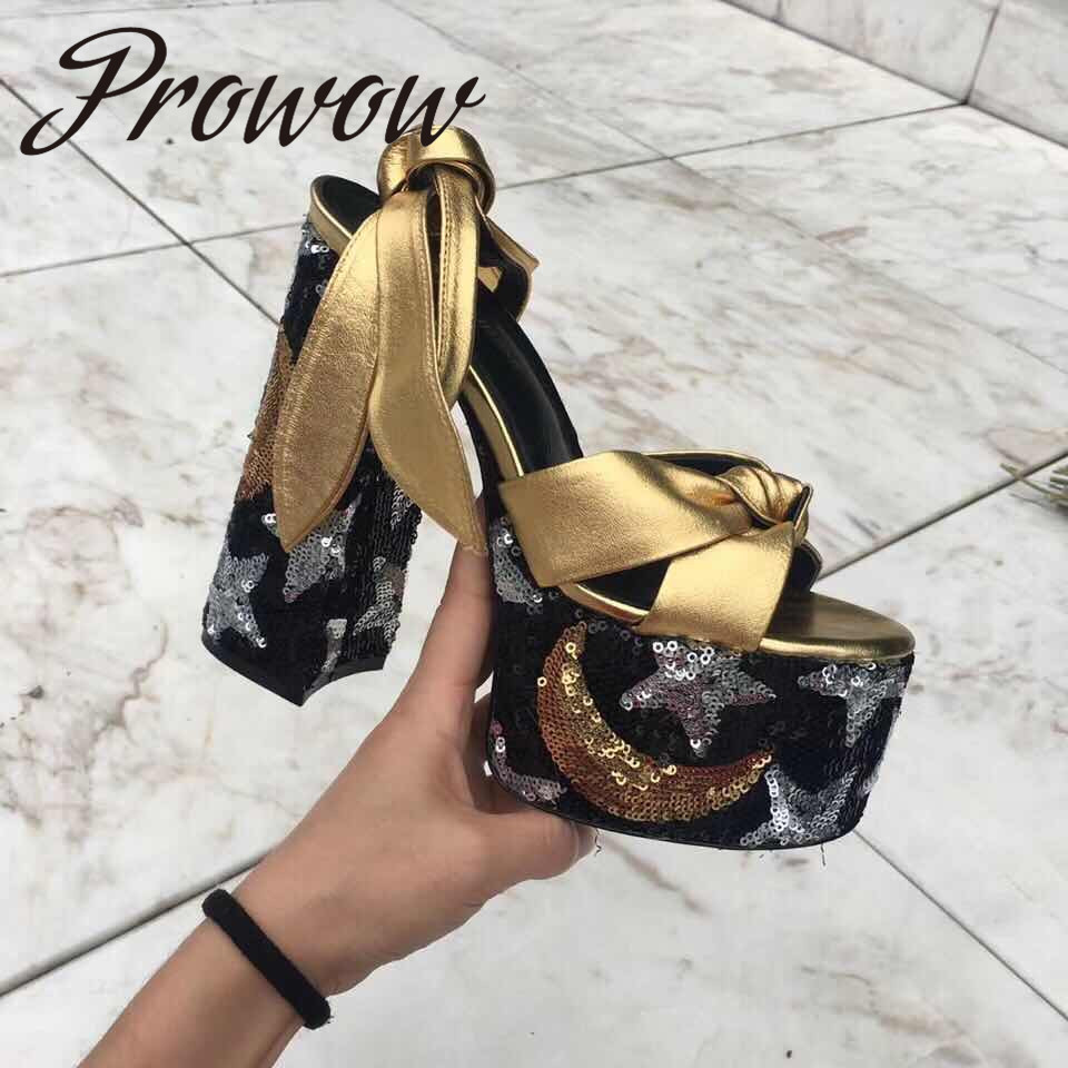 Prowow New Genuine Leather Bowtie Summer Sandals Sexy Platform HIgh Heel Dress Sandals Shoes WomenProwow New Genuine Leather Bowtie Summer Sandals Sexy Platform HIgh Heel Dress Sandals Shoes Women