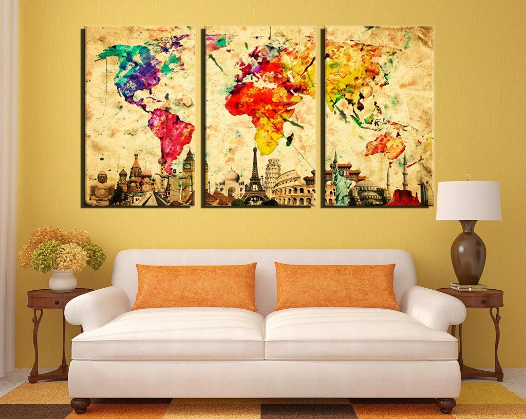 Cute 3 Panel Wall Art Gallery - The Wall Art Decorations ...