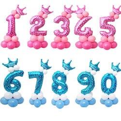 1 компл. 0-9 номеров большой гелиевый номер фольги Детские фестивали Dekoration день рождения игрушка anniversaire enfant шляпа для детей