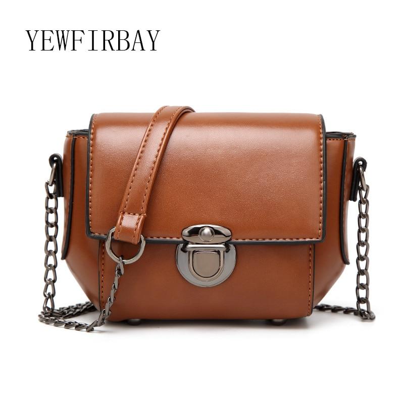 YEWFIRBAY brand women messenger bag new fashion chain PU Shoulder Crossbody Bags female Handbag ladies casual