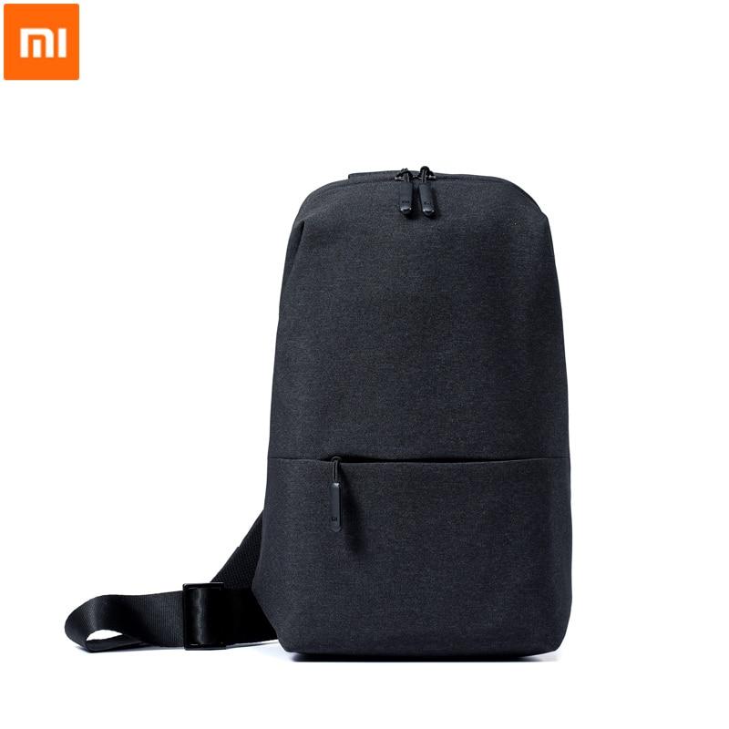 Original Xiaomi Mi Backpack Urban Leisure Chest Pack Bag For Men Women Small Size Shoulder Type Unisex Rucksack Backpack Bags La original xiaomi 3 colors baseball mi cap unisex popular design sweat absorption reflective snapback hip hop for men and women