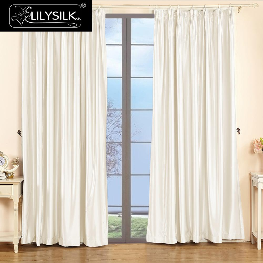 lilysilk silk drapes curtain panels 22 momme classical windows drape pinch pleat header free shipping