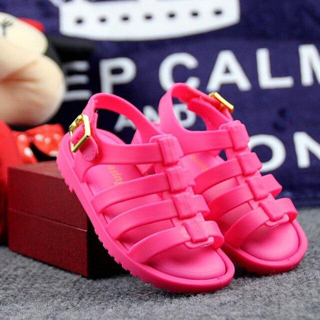 Mini Melissa Sandalias Romanas Sandalias de Los Muchachos de Flox Melissa Zapatos de La Jalea Sandalias de Los Niños Zapatos Sandalias Romanas Hueco Transpirable