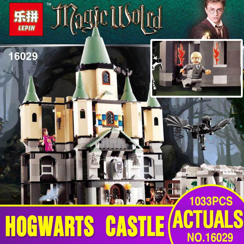 ФОТО Lepin 16029 Movie Series 1033Pcs The magic hogwort castle set Children Educational Building Blocks Bricks Toys Model Gift 5378