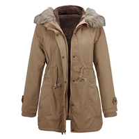 Thick Warm Ladies Down Jacket Real Fur Collar Hooded Parkas For Women 2017 Winter Long Oversized