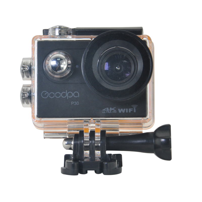 Goodpa P30 Action Camera Ultra HD 4K WiFi Sports Action Camera Waterproof 30MP 1080P/120fps 2.0 IPS 170 Helmet Cam Sport Camera wimius 20m wifi action camera 4k sport helmet cam full hd 1080p 60fps go waterproof 30m pro gyro stabilization av out fpv camera