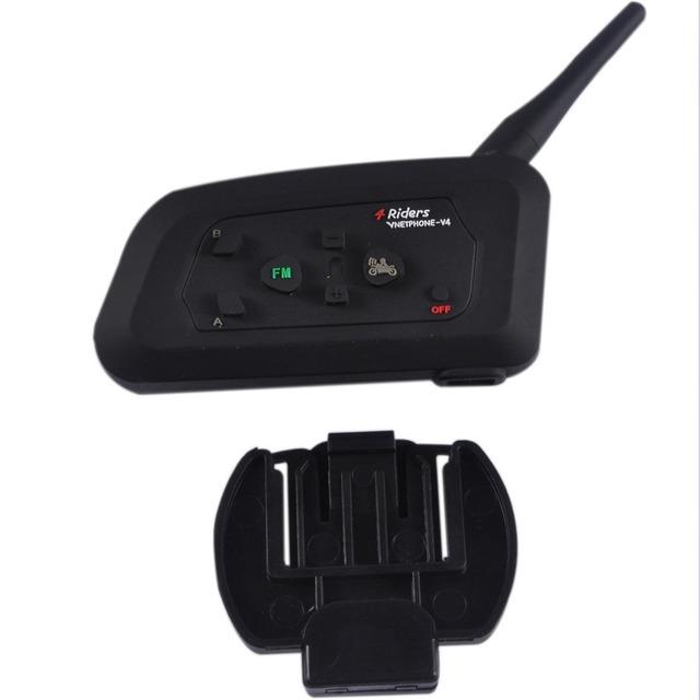 Walkie-talkie V4 Full-duplex kask walkie-talkie zestaw słuchawkowy interkom bezprzewodowy tanie i dobre opinie Uprząż 100*70*20mm black full duplex communication optional (partial support) single package Double package