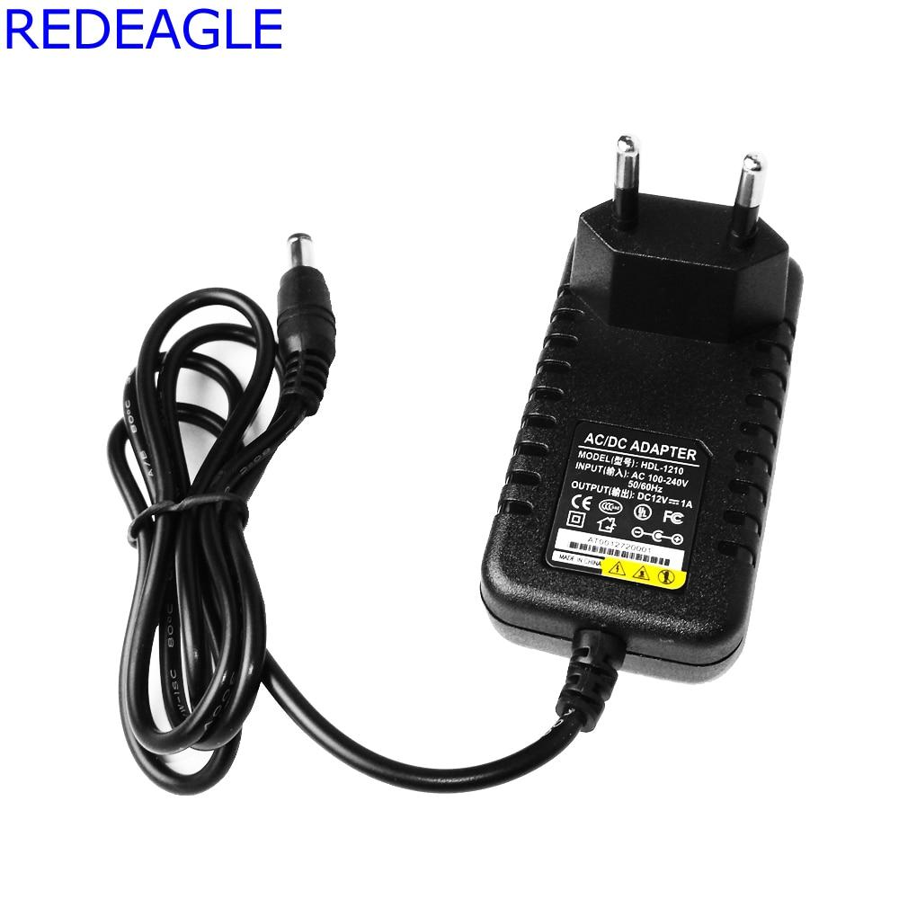 REDEAGLE 12V 1A CCTV System Power Adapter AC 100 To 240V 50/60Hz Input To DC 12V 1000mA Output US Or EU Plug