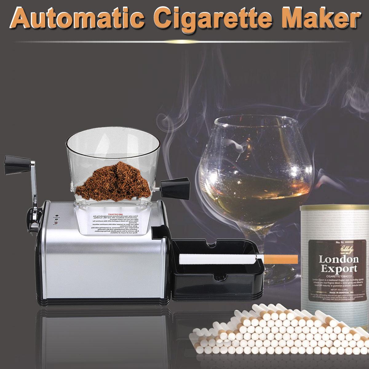 Di alta Qualità 220 v Elettrico Automatico Fare Rolling Macchina Sigaretta di Tabacco Roller Maker Iniettare 8mm Tubo di Fumo Portatile Strumento