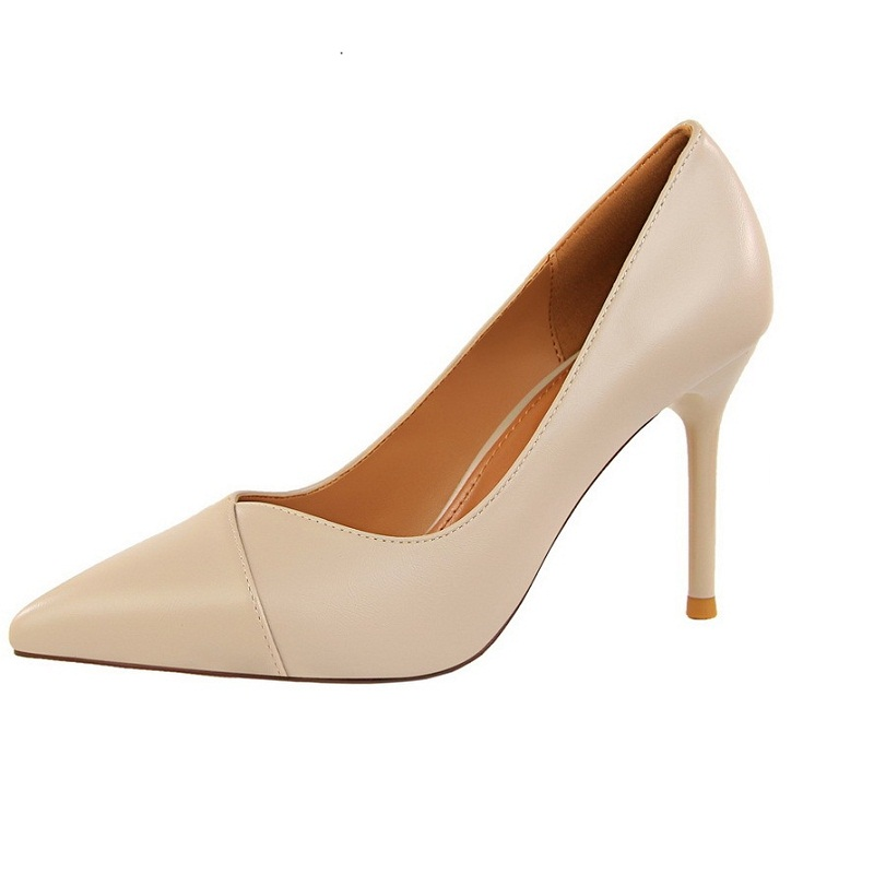 high heel sexy pumps women shoes Fashion shows thin and simple occupation OL women's shoes with high and shallow pointed single [328] women autumn fashion shoes pu skin shallow low heeled shoes with high heel pointed shoes for ol lss 888