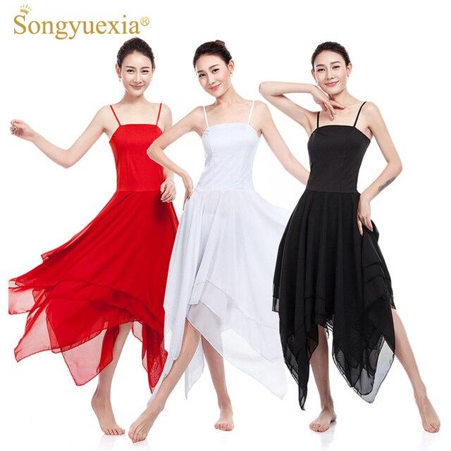 Songyuiexia Vestido De Ballet Para Mujer Disfraz De Baile Elegante Vestido De Baile Moderno Para Niñas Ballet Tutú Ropa De Baile Leotardo