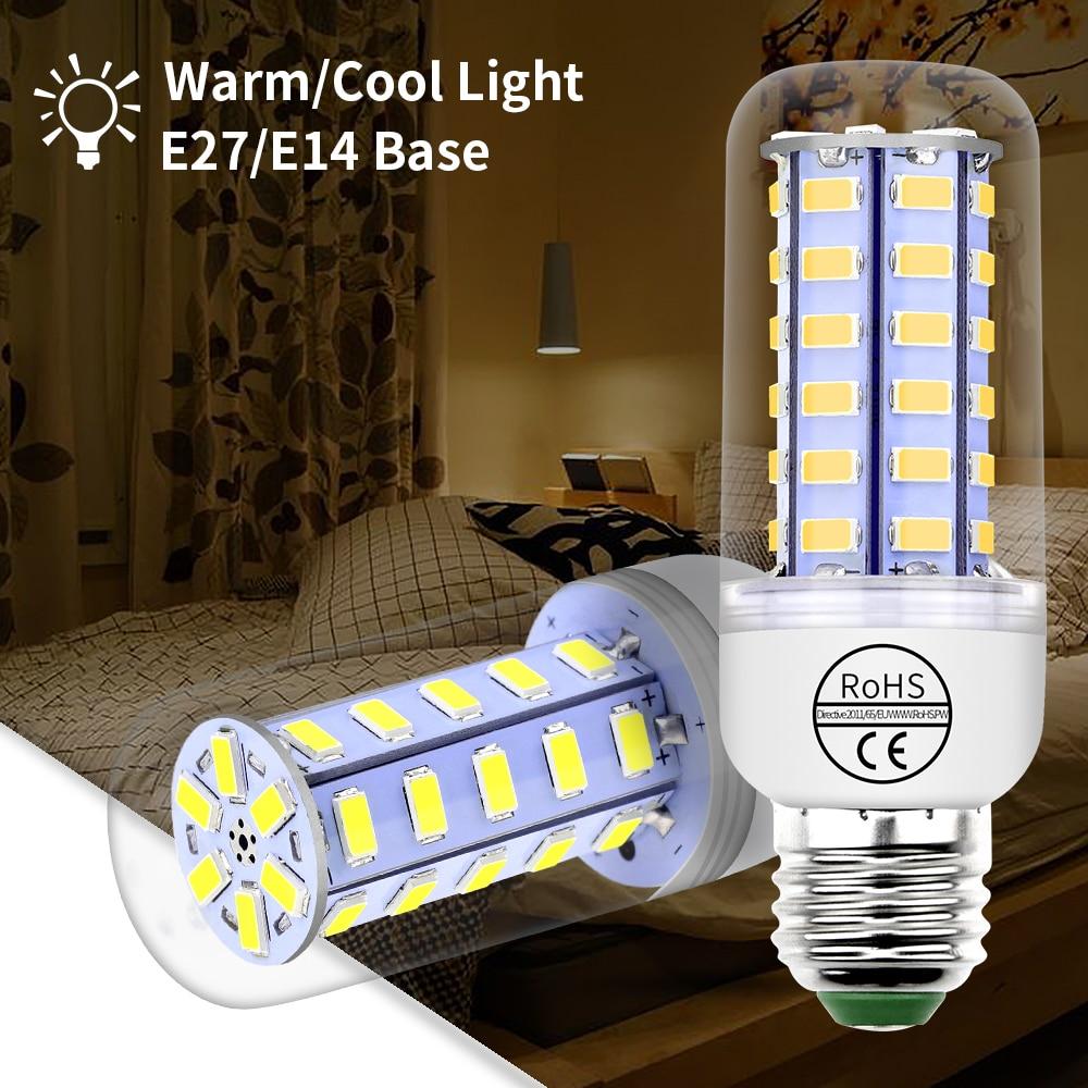 Led Lamp Bulb E27 220V Led Corn Bulb E14 5730SMD Led Candle Light Bulbs for Home DayLight 3W 5W 7W 12W 15W 18W 20W 25W Spotlight e14 led candle bulb light e27 energy saving lamp 220v 3w 5w 7w e12 b15 b22 bombilla lampara chandelier home decoration spotlight