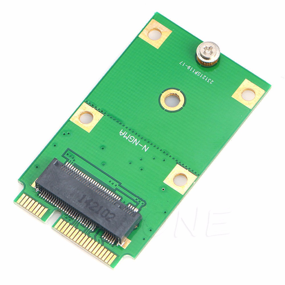 M.2 NGFF SSD To Mini PCI-E MSATA Adapter Card Replacement Converter NEW C26